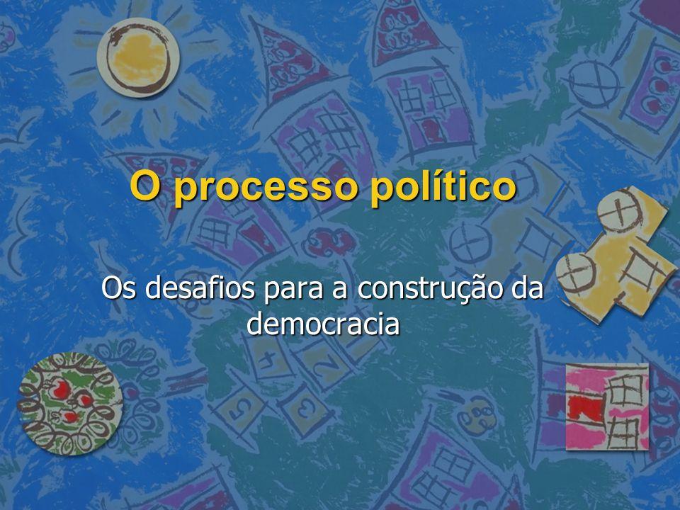 O processo político Os desafios para a construção da democracia