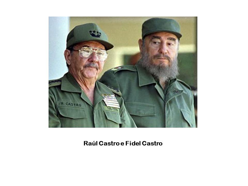 Raúl Castro e Fidel Castro