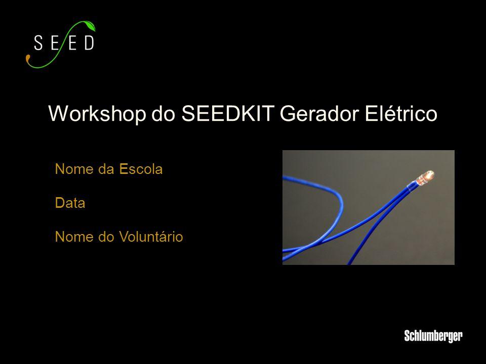 Nome da Escola Data Nome do Voluntário Workshop do SEEDKIT Gerador Elétrico