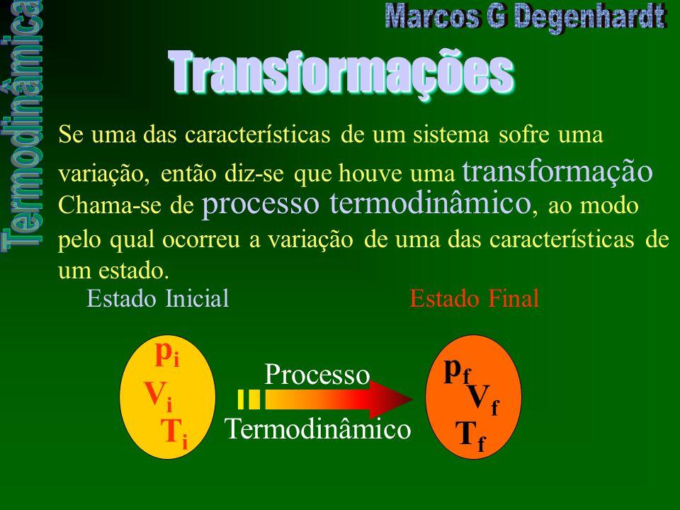 TransformaçõesTransformações Se uma das características de um sistema sofre uma variação, então diz-se que houve uma transformação Chama-se de process