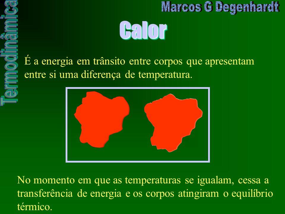CalorCalor É a energia em trânsito entre corpos que apresentam entre si uma diferença de temperatura. No momento em que as temperaturas se igualam, ce
