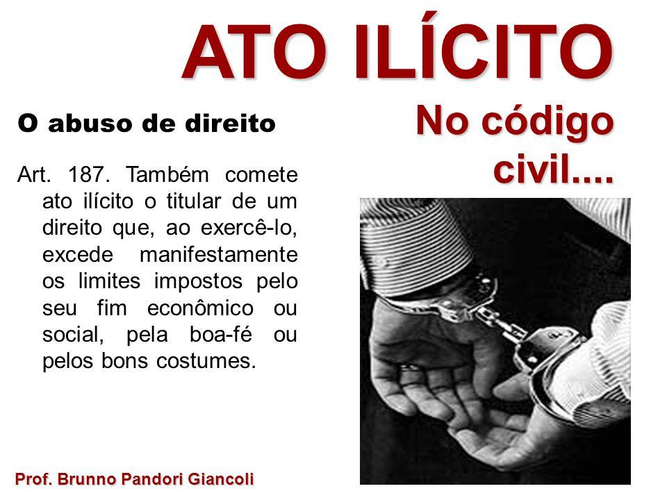 O abuso de direito Art.187.