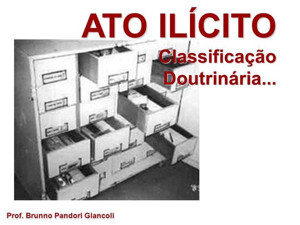 ATO ILÍCITO Classificação ClassificaçãoDoutrinária... Prof. Brunno Pandori Giancoli