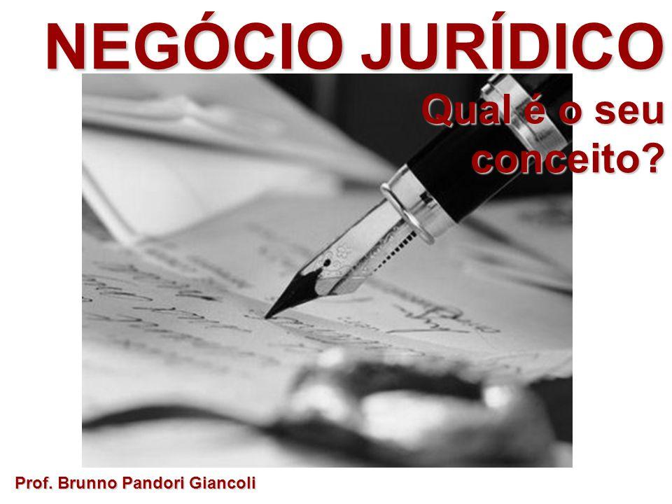 NEGÓCIO JURÍDICO Qual é o seu Qual é o seuconceito? Prof. Brunno Pandori Giancoli