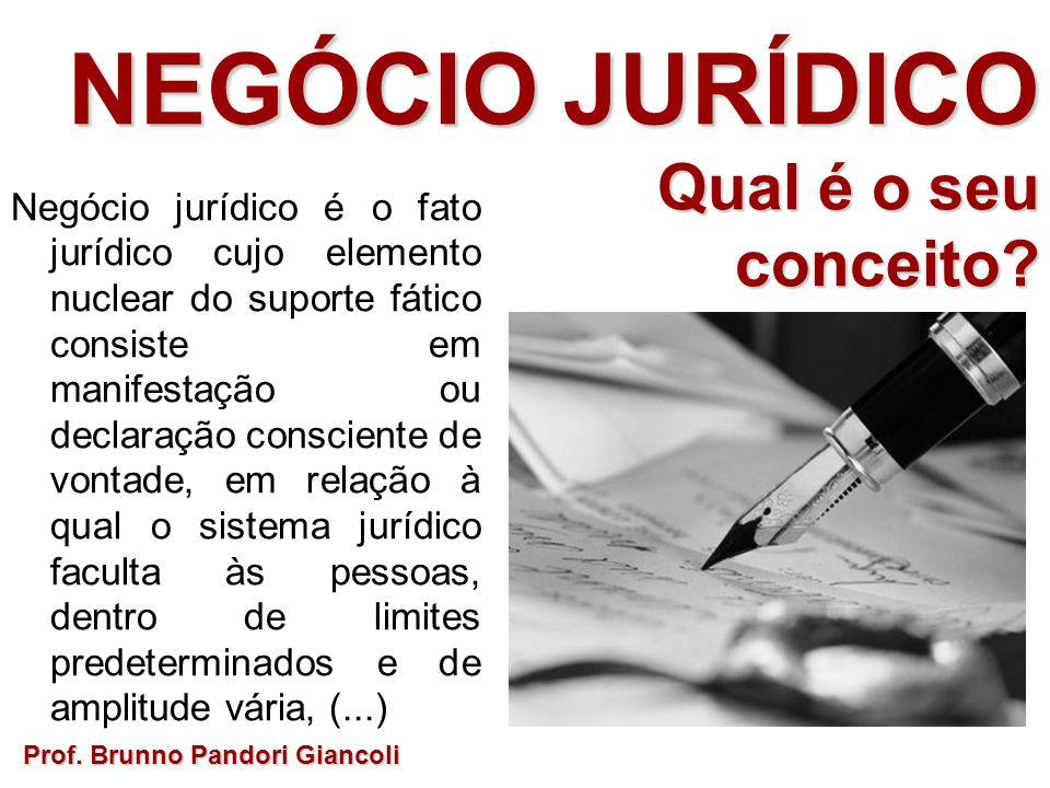 Negócio jurídico é o fato jurídico cujo elemento nuclear do suporte fático consiste em manifestação ou declaração consciente de vontade, em relação à qual o sistema jurídico faculta às pessoas, dentro de limites predeterminados e de amplitude vária, (...) NEGÓCIO JURÍDICO Qual é o seu Qual é o seuconceito?