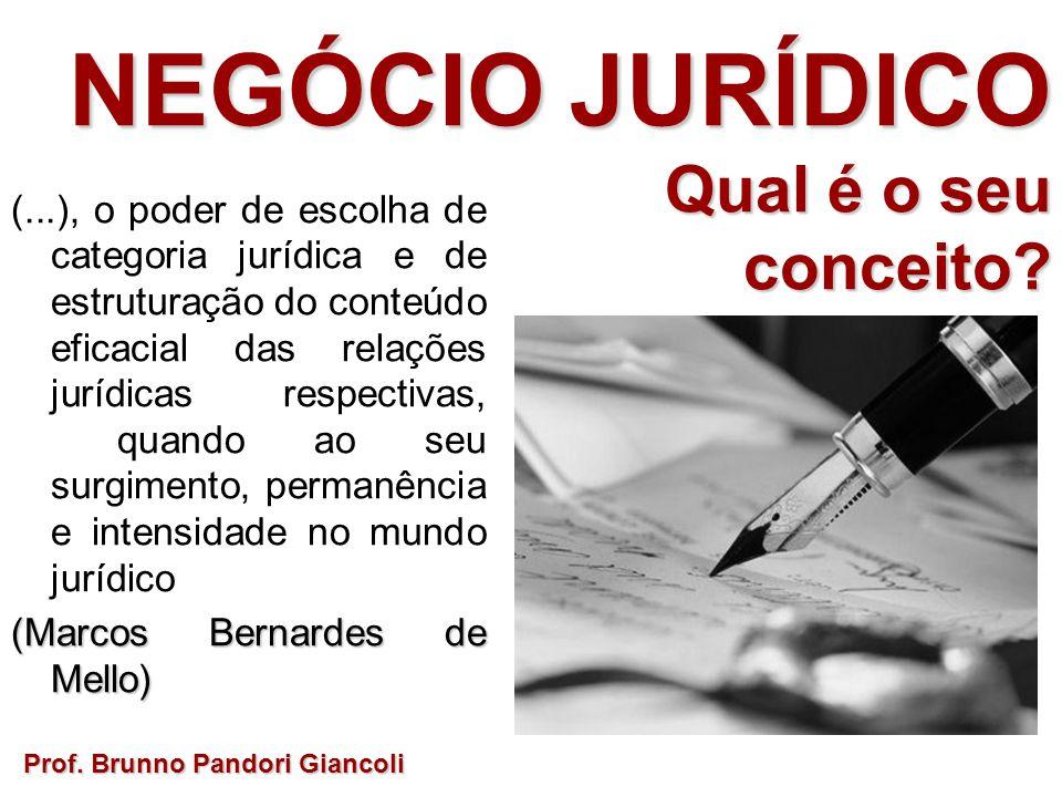 Prof. Brunno Pandori Giancoli (...), o poder de escolha de categoria jurídica e de estruturação do conteúdo eficacial das relações jurídicas respectiv