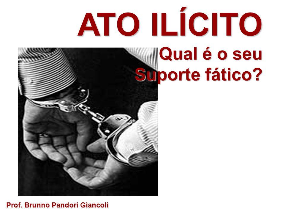 ATO ILÍCITO Qual é o seu Qual é o seu Suporte fático? Prof. Brunno Pandori Giancoli