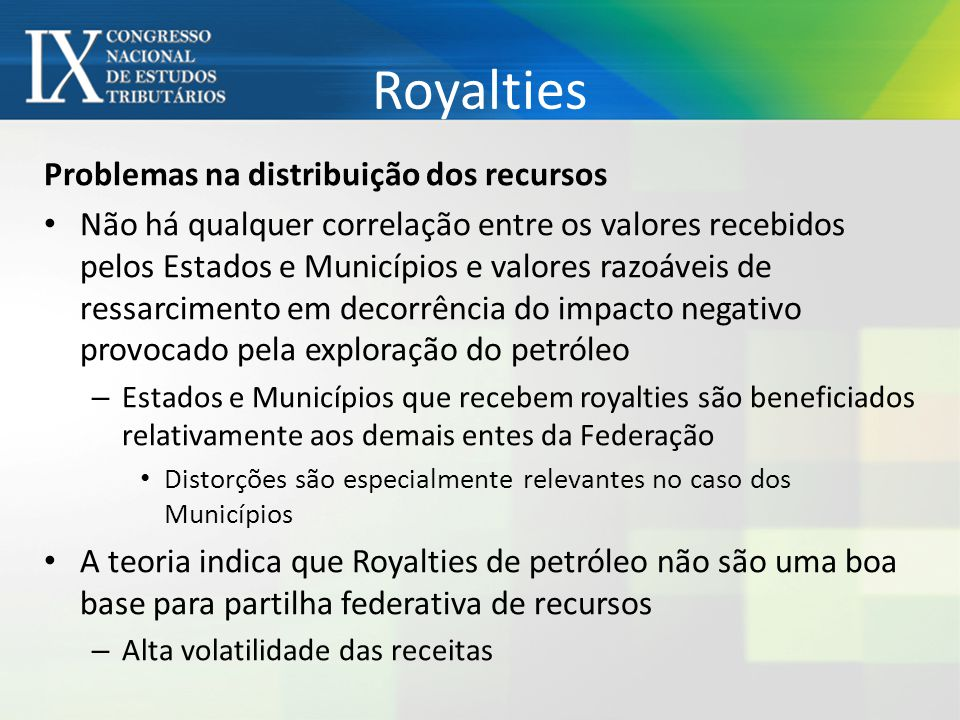 Royalties Fonte: STN
