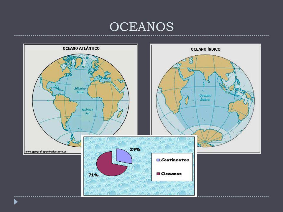 CONTINENTES Continente é uma grande massa de terra contínua cercada pelas águas oceânicas.