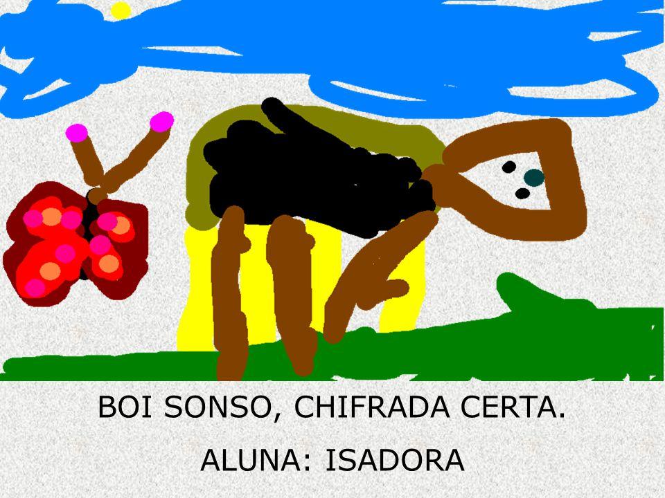 BOI SONSO, CHIFRADA CERTA. ALUNA: ISADORA