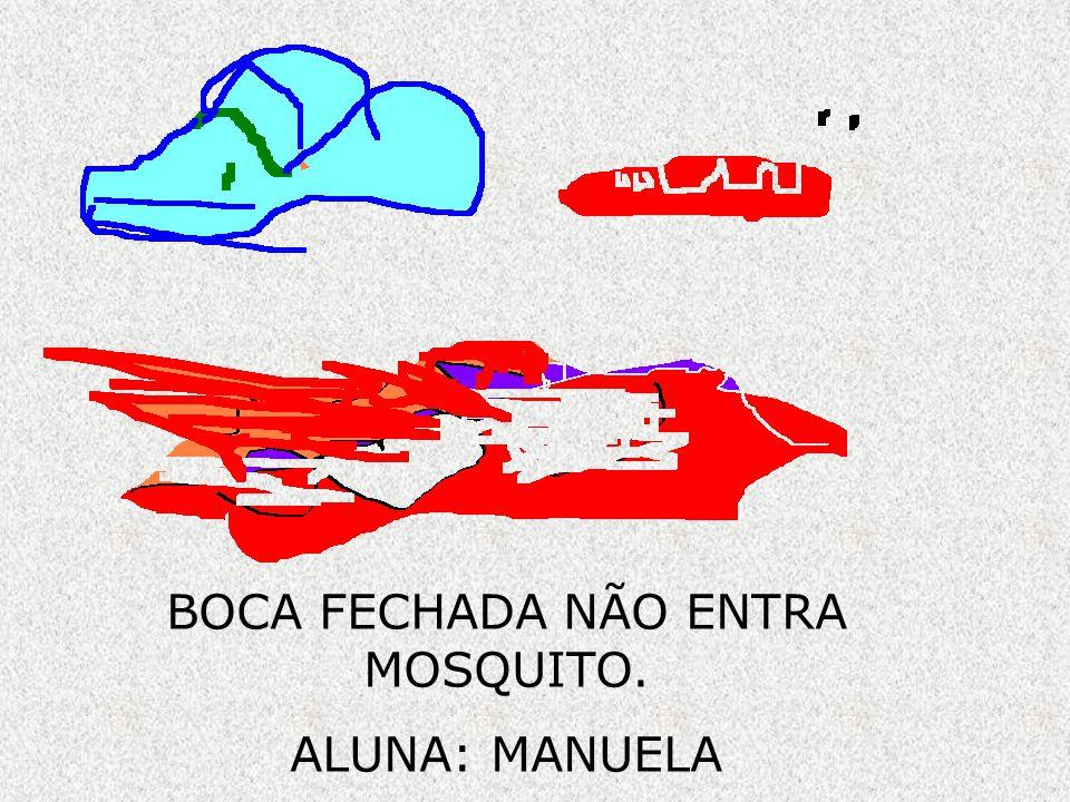 BOCA FECHADA NÃO ENTRA MOSQUITO. ALUNA: MANUELA