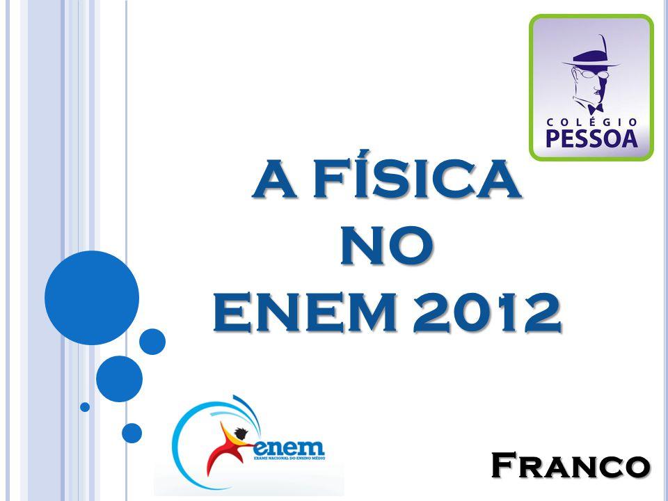 A FÍSICA NO ENEM 2012 Franco