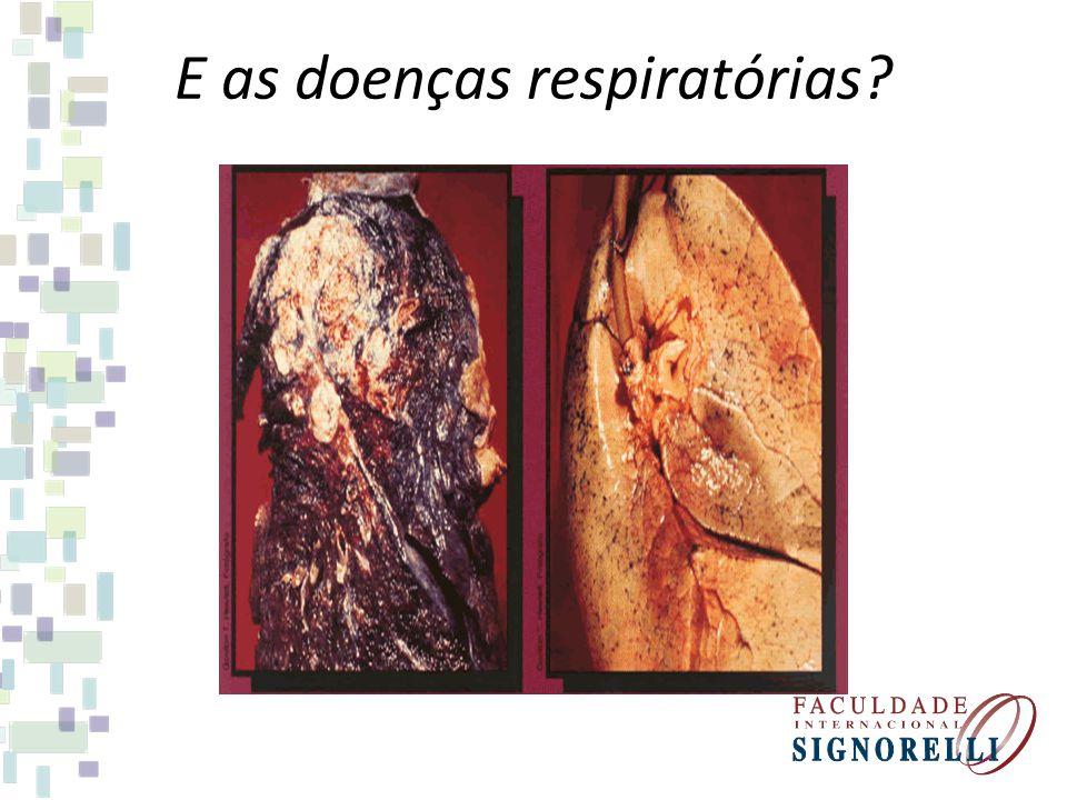 E as doenças respiratórias?