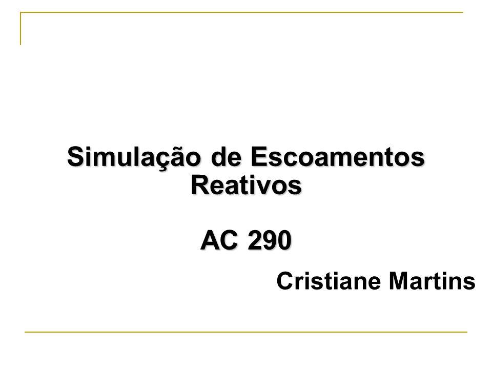 Radicais e reações Reações de Iniciação geram radicais a partir de espécies estáveis, tal como a decomposição do propano: C3H8 CH3 + C2H5 (1) Reações de Propagação são aquelas que mantém o número de espécies radicalares, como: C2H6 + OH C2H5 + H20 (2), consume um OH e produz um radical etil Reações de Terminação reduz o número de radicais, como em uma recombinação: C2H5 + C2H5 C4H10 (3) A chave para se compreender a cinética de ignição está em identificar a reações de Ramificação nas condições de estudo.