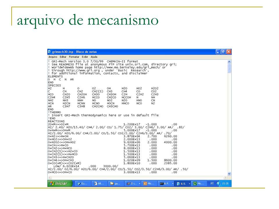 arquivo de mecanismo