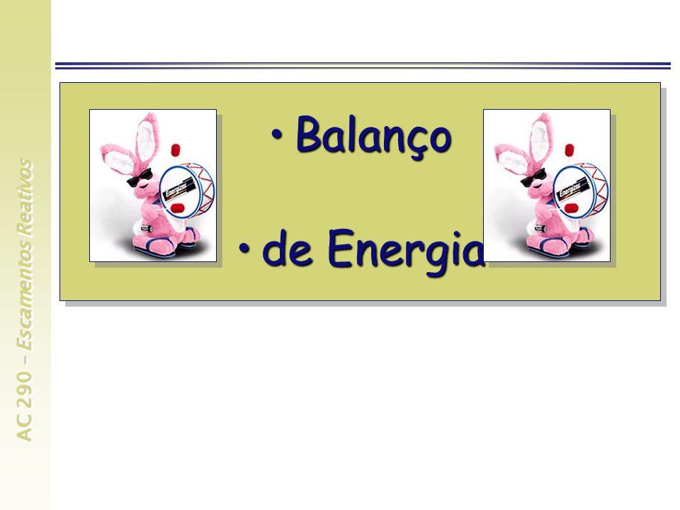 AC 290 – Escamentos Reativos BalançoBalanço de Energiade Energia BalançoBalanço de Energiade Energia