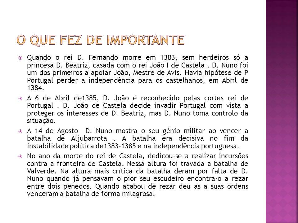 Já sabia que esta personagem era importante na história portuguesa mas não sabia algumas das coisas que ele tinha feito e agora já sei.