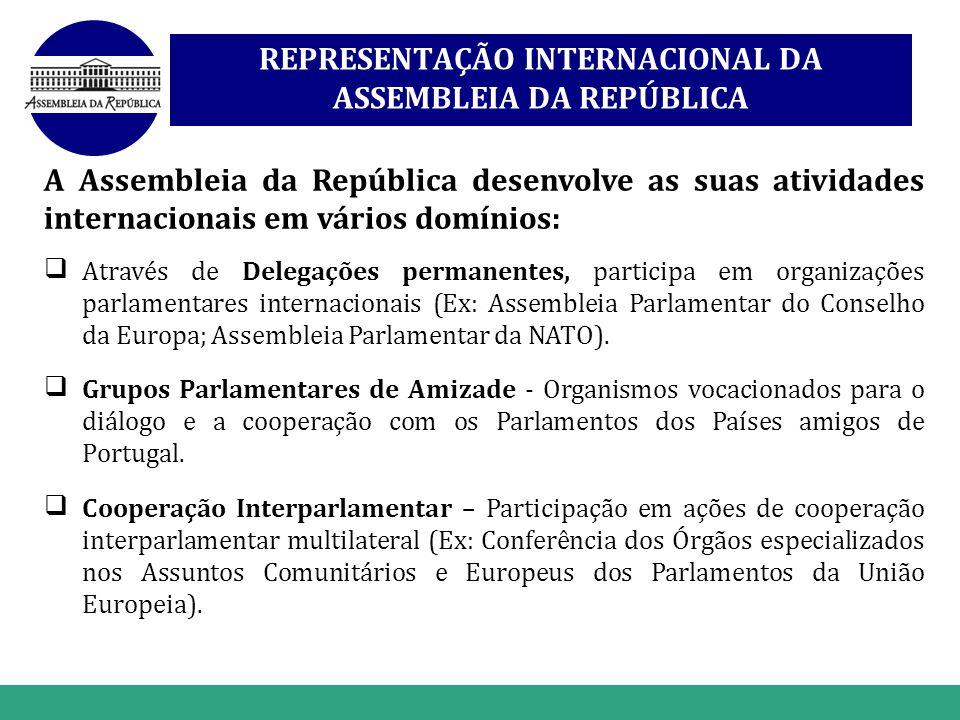 www.themegallery.com REPRESENTAÇÃO INTERNACIONAL DA ASSEMBLEIA DA REPÚBLICA A Assembleia da República desenvolve as suas atividades internacionais em
