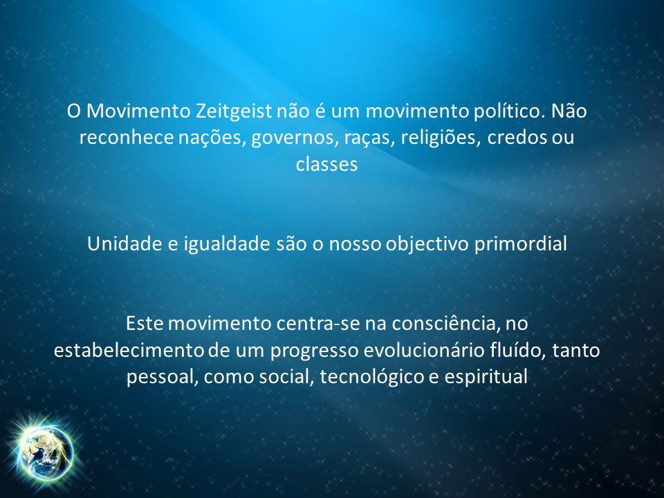O Movimento Zeitgeist não é um movimento político.