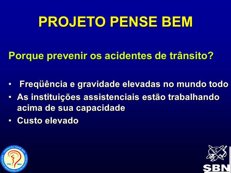 1984 a 2004 29.595.601 Em 2004 2.210.741 (dados da Anfavea) 1984 a 2004 29.595.601 Em 2004 2.210.741 (dados da Anfavea) PROJETO PENSE BEM Veículos fabricados no Brasil