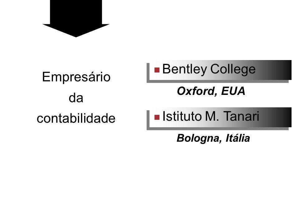 Bentley College Istituto M. Tanari Oxford, EUA Bologna, Itália Empresário da contabilidade