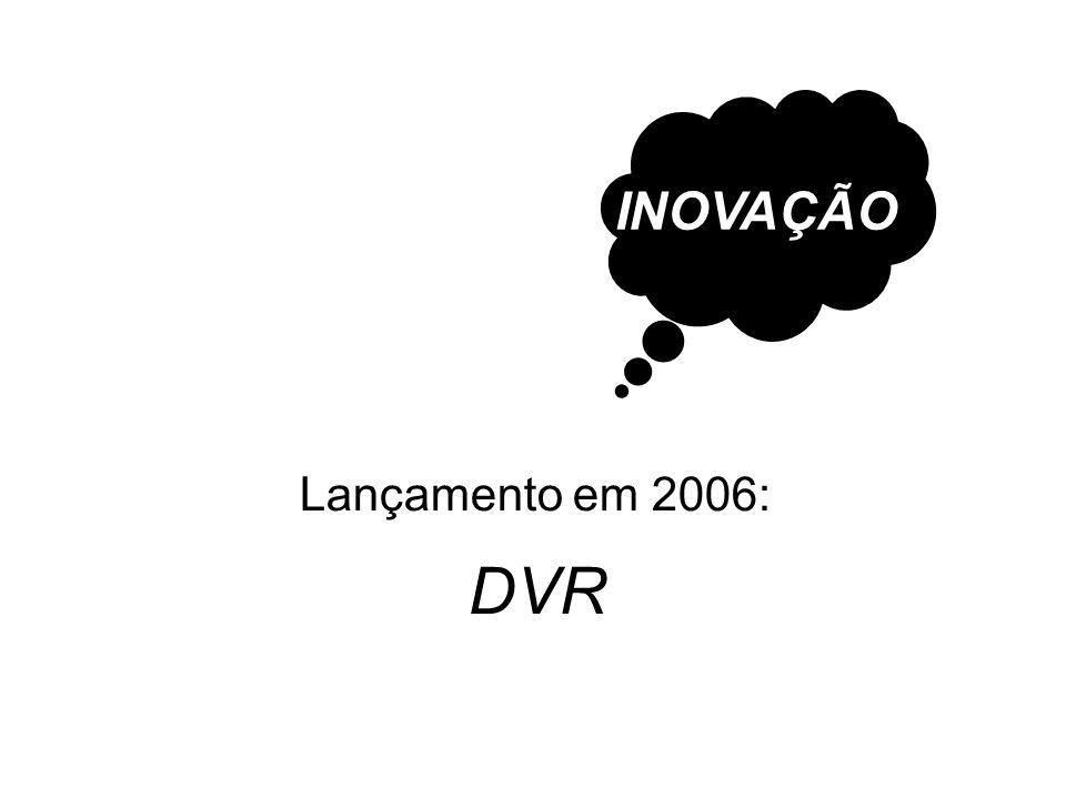 DVR Lançamento em 2006: INOVAÇÃO