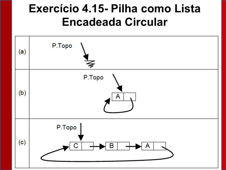Exercício 4.15- Pilha como Lista Encadeada Circular