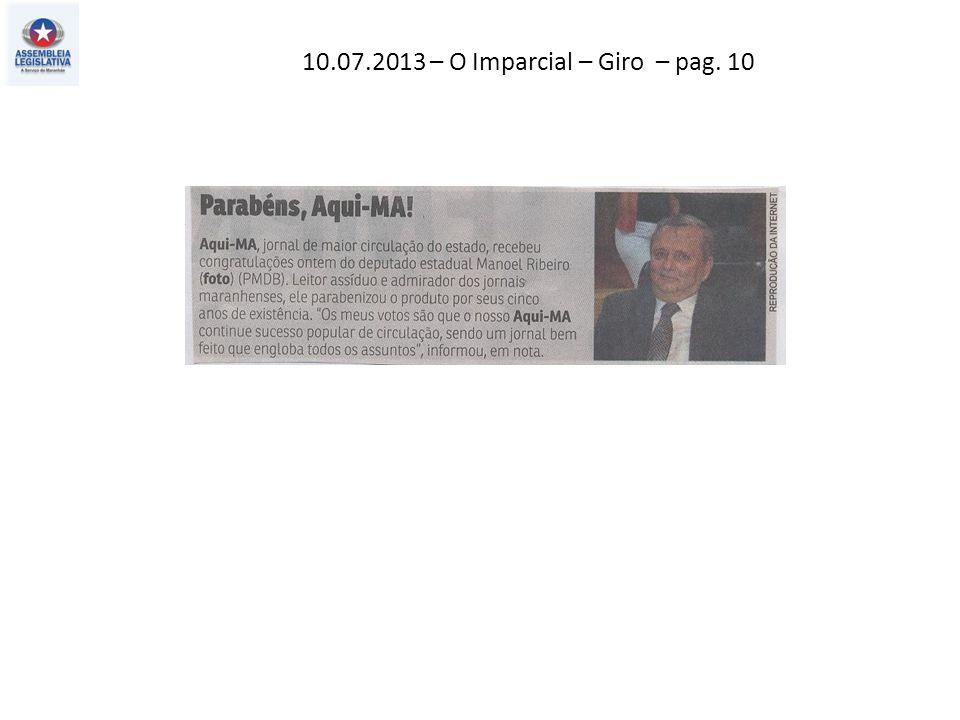 10.07.2013 – O Imparcial – Giro – pag. 10