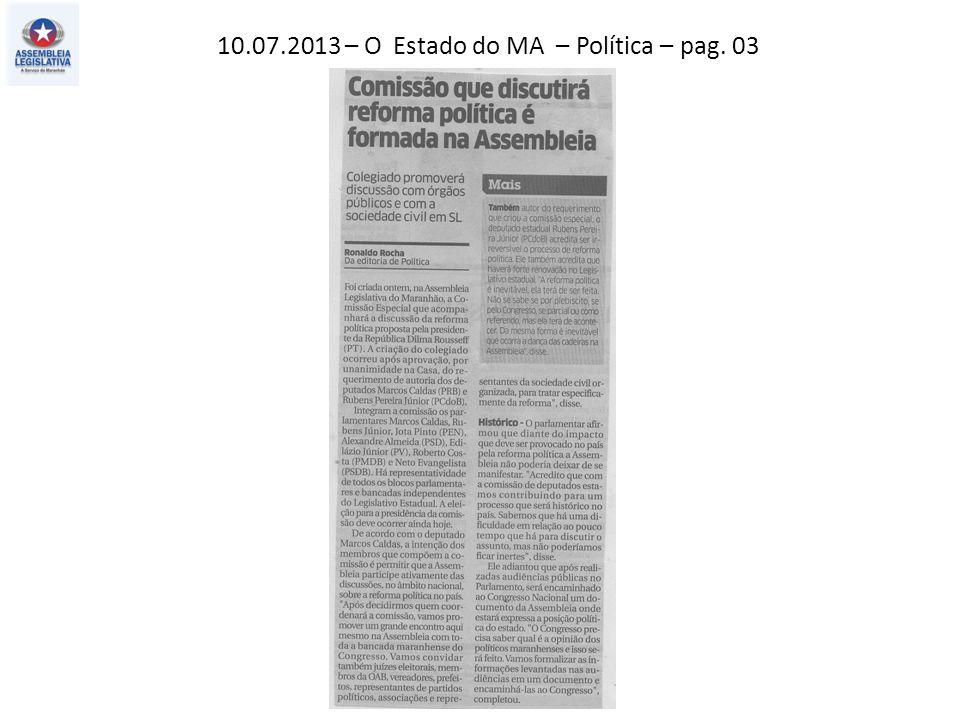 10.07.2013 – O Imparcial – Política – pag. 04