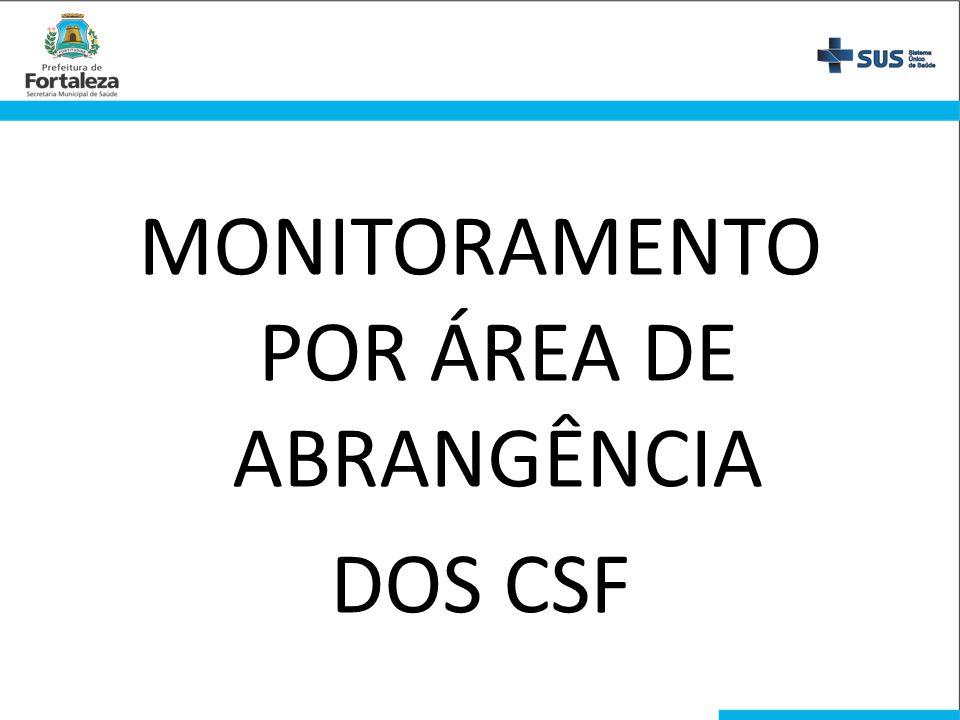 MONITORAMENTO POR ÁREA DE ABRANGÊNCIA DOS CSF