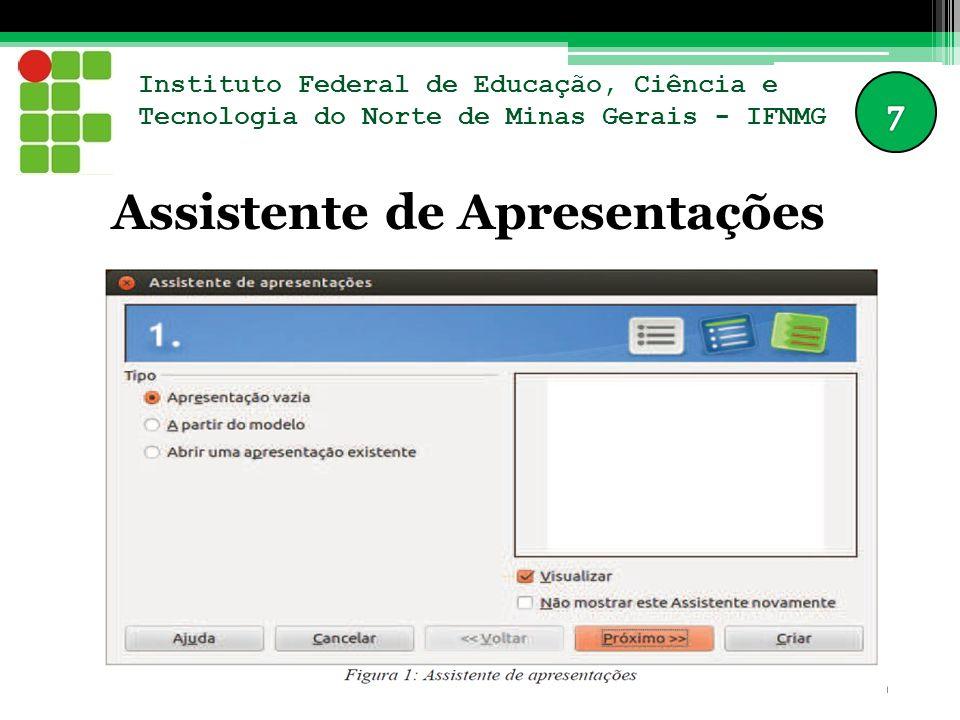 Instituto Federal de Educação, Ciência e Tecnologia do Norte de Minas Gerais - IFNMG Assistente de Apresentações