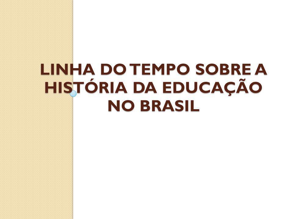 LINHA DO TEMPO SOBRE A HISTÓRIA DA EDUCAÇÃO NO BRASIL