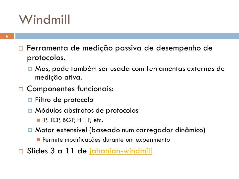Windmill 6 Ferramenta de medição passiva de desempenho de protocolos.