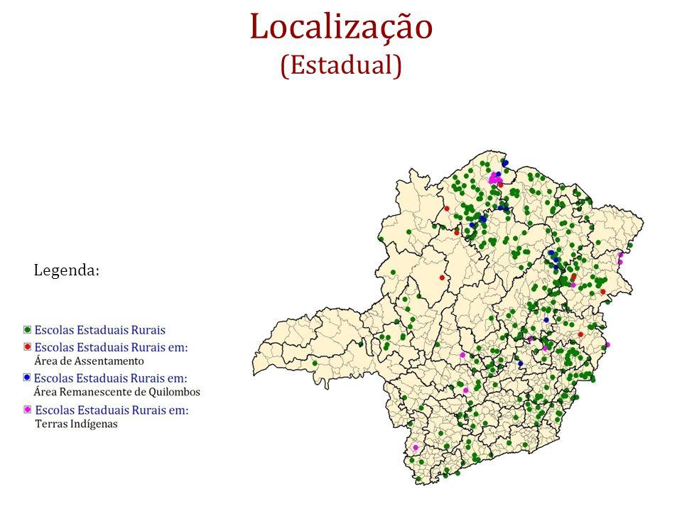 Localização (Estadual) Legenda: