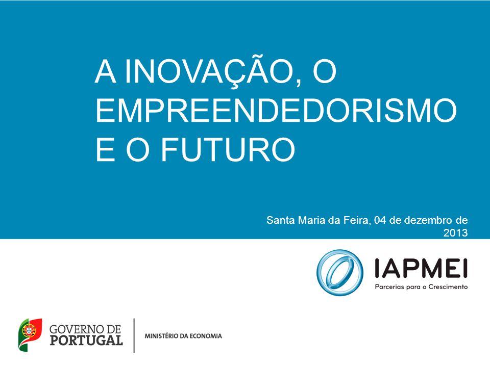 A INOVAÇÃO, O EMPREENDEDORISMO E O FUTURO Santa Maria da Feira, 04 de dezembro de 2013