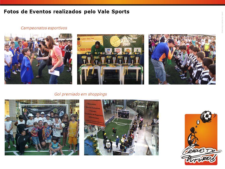 Marketing Craques do Futuro Fotos de Eventos realizados pelo Vale Sports Campeonatos esportivos Gol premiado em shoppings