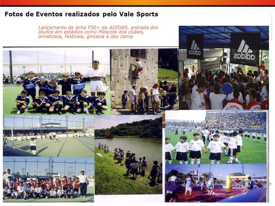 Marketing Craques do Futuro Fotos de Eventos realizados pelo Vale Sports Lançamento da linha F50+ da ADIDAS, entrada dos alunos em estádios como Masco