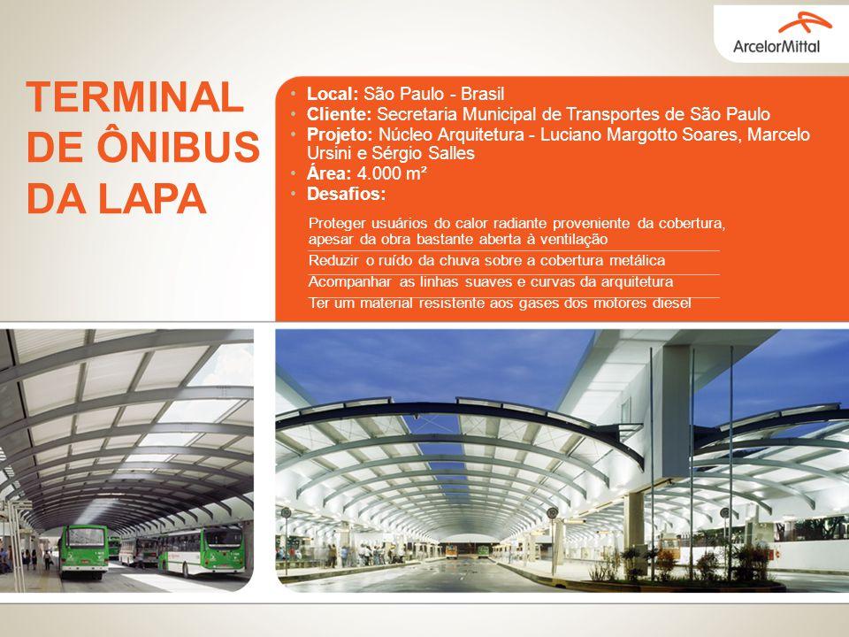 Local: São Paulo - Brasil Cliente: Secretaria Municipal de Transportes de São Paulo Projeto: Núcleo Arquitetura - Luciano Margotto Soares, Marcelo Urs