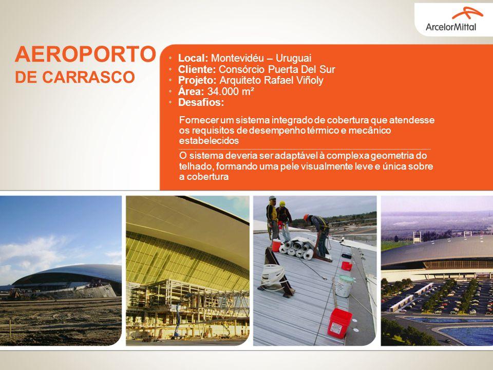 Local: Montevidéu – Uruguai Cliente: Consórcio Puerta Del Sur Projeto: Arquiteto Rafael Viñoly Área: 34.000 m² Desafios: Fornecer um sistema integrado