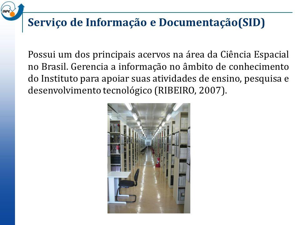 Possui um dos principais acervos na área da Ciência Espacial no Brasil. Gerencia a informação no âmbito de conhecimento do Instituto para apoiar suas