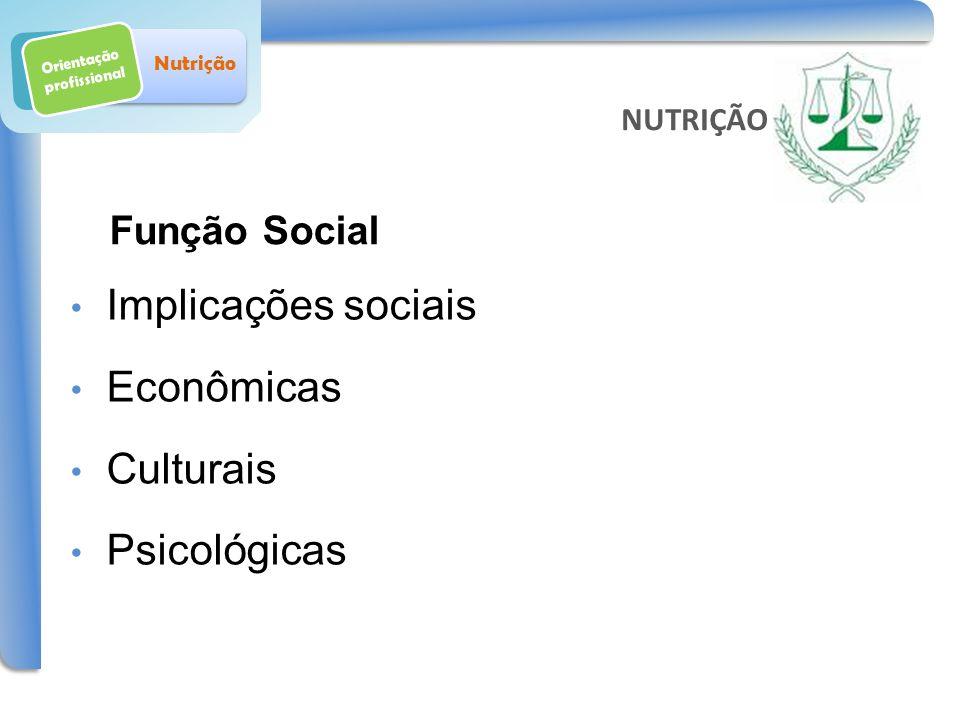 Orientação profissional Nutrição Comportamento Alimentar: conjunto de ações praticadas em torno da alimentação O comportamento alimentar determina o ESTADO NUTRICIONAL Saúde Nutrição NUTRIÇÃO