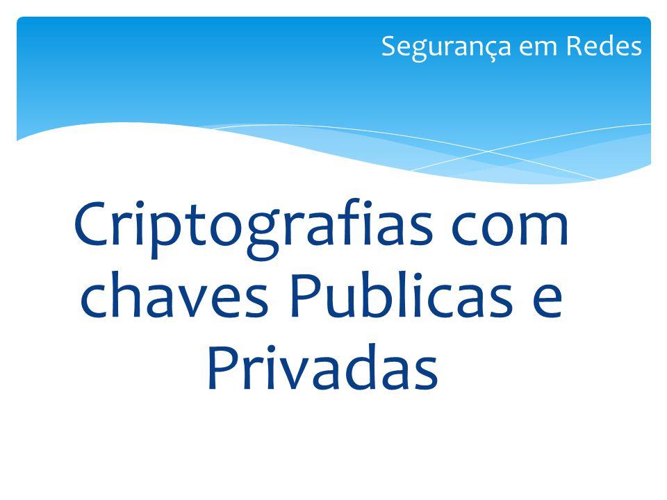 Criptografias com chaves Publicas e Privadas Segurança em Redes
