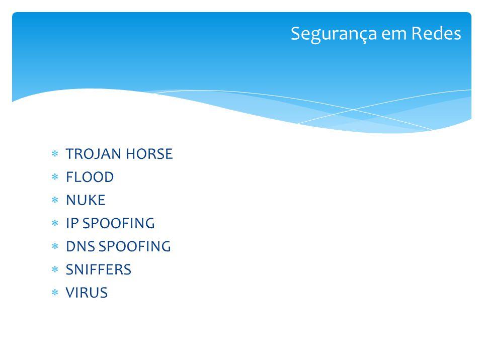 TROJAN HORSE Tem a capacidade de dar acesso sem restrições ao invasor possibilitando executar qualquer ação no computador da vítima.