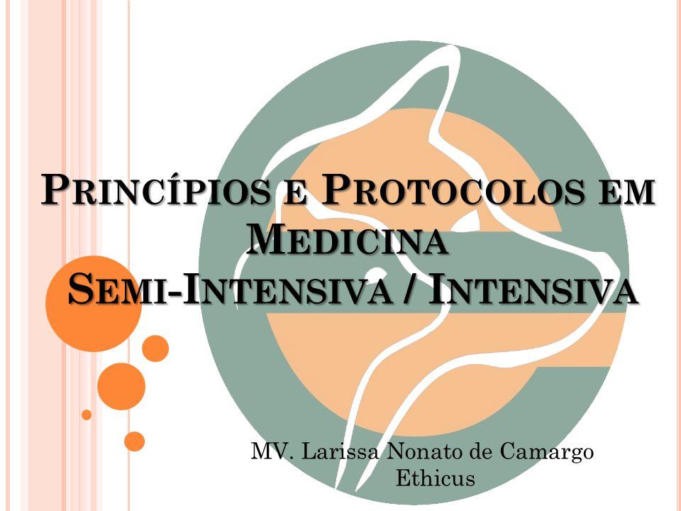 P RINCÍPIOS E P ROTOCOLOS EM M EDICINA S EMI -I NTENSIVA / I NTENSIVA MV. Larissa Nonato de Camargo Ethicus