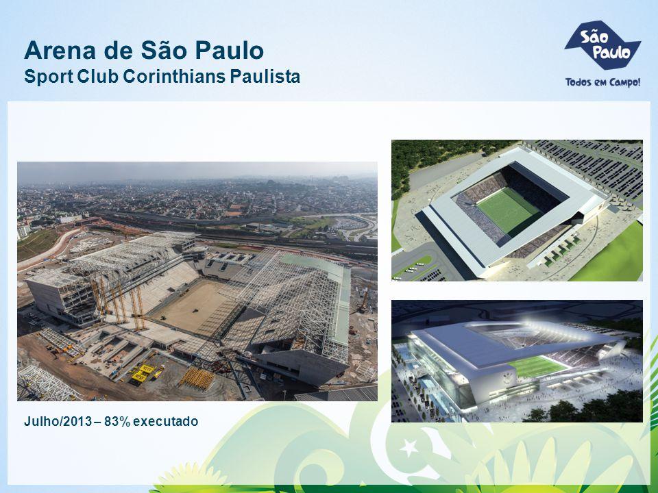 Arena de São Paulo Sport Club Corinthians Paulista Julho/2013 – 83% executado