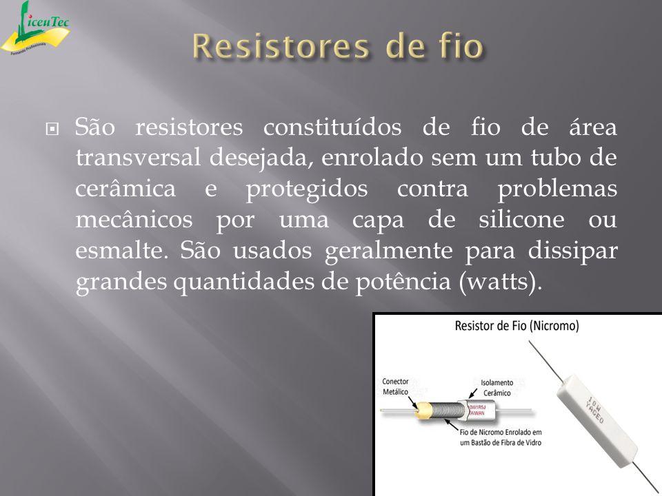 São resistores constituídos de fio de área transversal desejada, enrolado sem um tubo de cerâmica e protegidos contra problemas mecânicos por uma capa