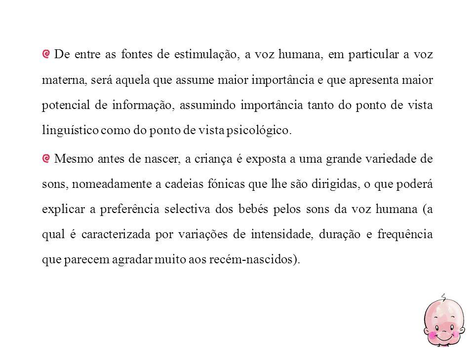 Marcos no desenvolvimento da produção fonológica Nascimento Choro e sons vegetativos 2 Meses Palreio e riso.