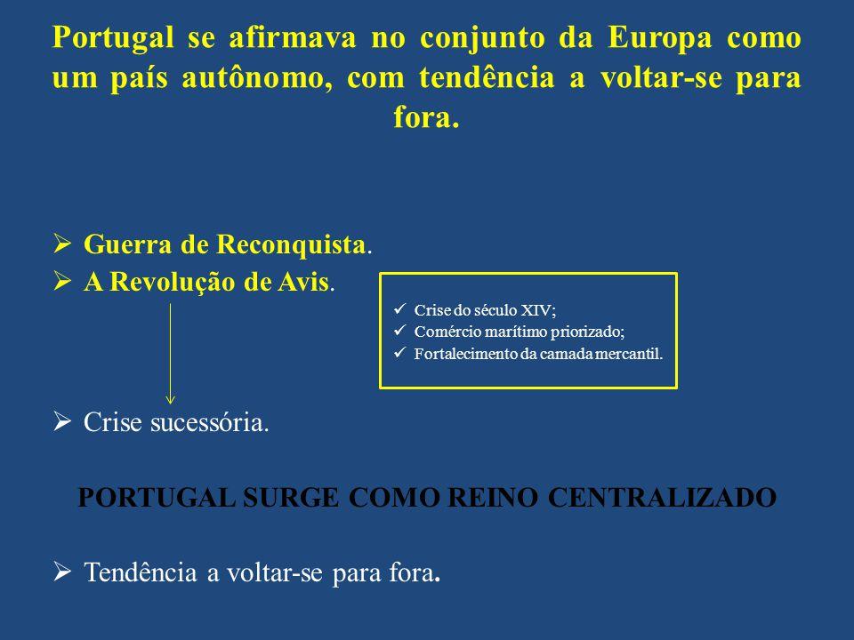 Portugal se afirmava no conjunto da Europa como um país autônomo, com tendência a voltar-se para fora. Guerra de Reconquista. A Revolução de Avis. Cri
