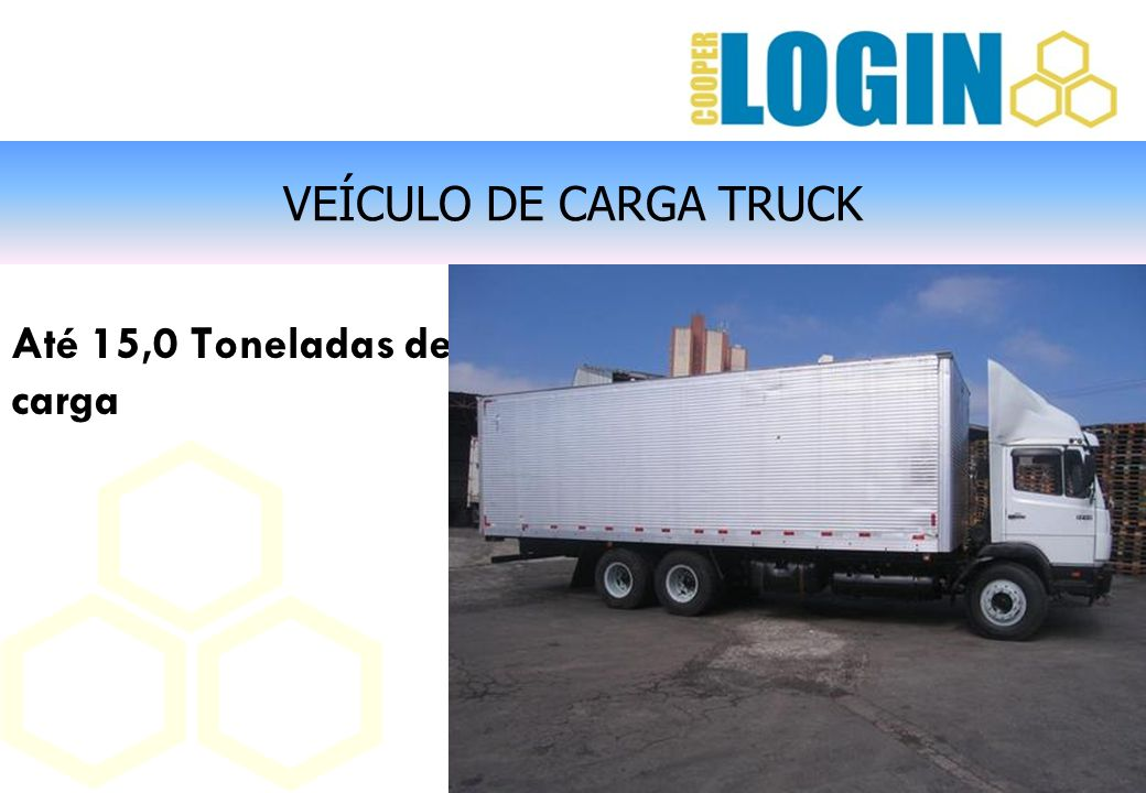 VEÍCULO DE CARGA TRUCK Até 15,0 Toneladas de carga