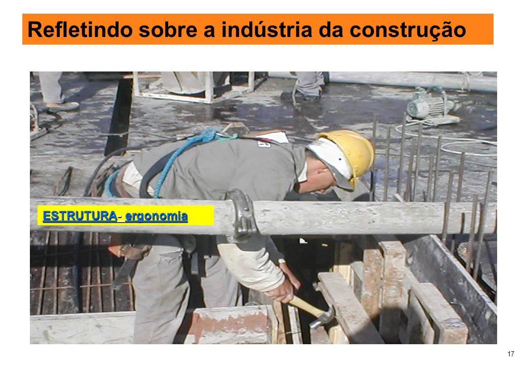 17 Refletindo sobre a indústria da construção ESTRUTURA- ergonomia